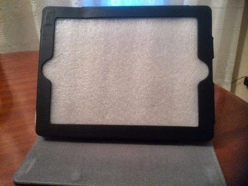 estuche 10  ipad 1 y 2 klip xtreme knc-070 de cuero