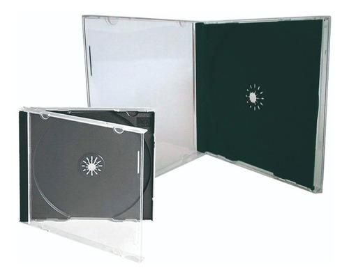 estuche acrílico para cd, dvd, bluray x 25 unidades