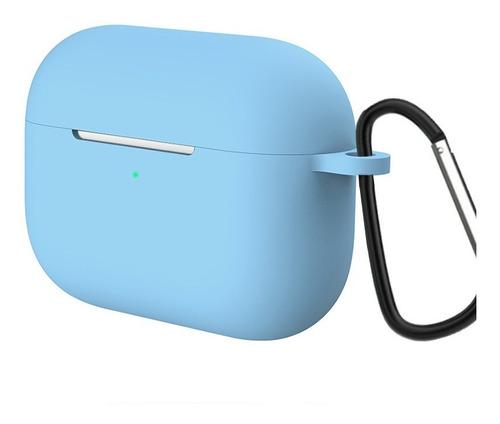 estuche airpods pro silicone case exclusivos + gancho