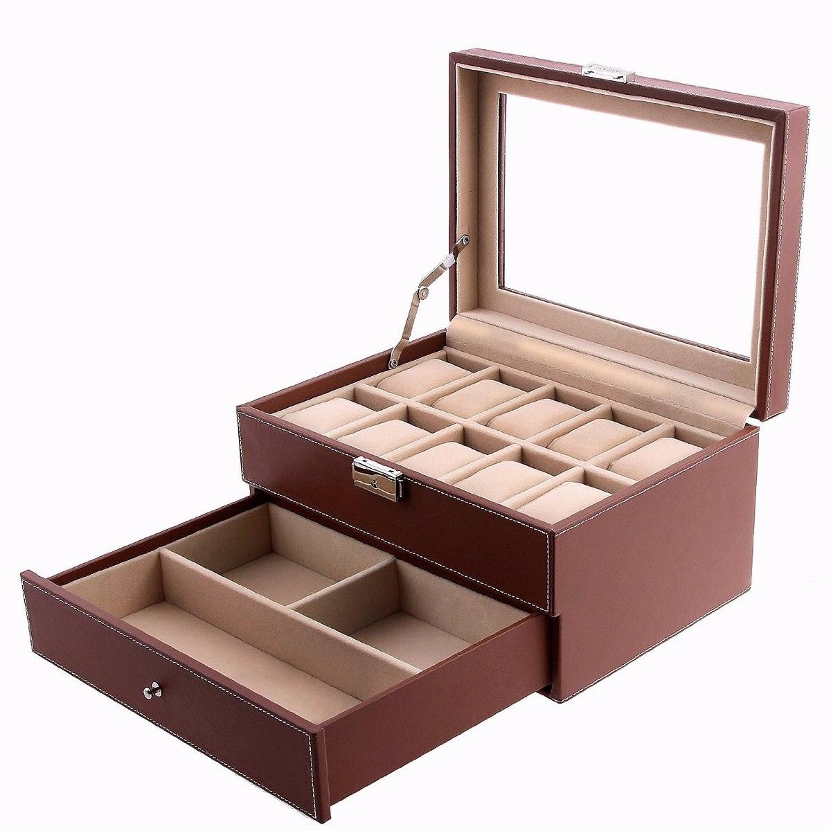 e1eb3630e7ff estuche almacenar joyeria caja para joyas imitacion piel. Cargando zoom.