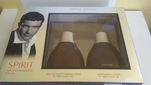estuche antonio bandera spirit perfume 100ml + after shave