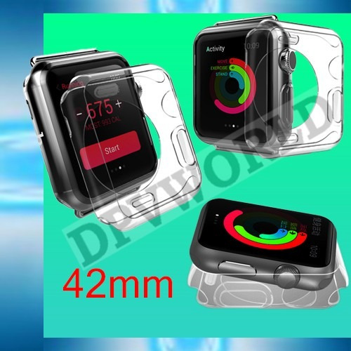estuche apple watch 42mm 38mm silicon protector elegante