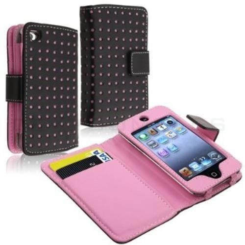 estuche billetera rosado para ipod touch 4 4g