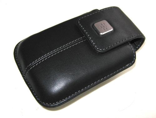 estuche blackberry original cuero autentico holster gancho