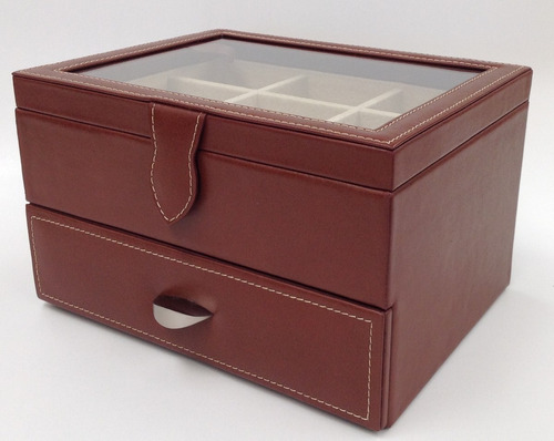 estuche caja para reloj / 18 relojes piel