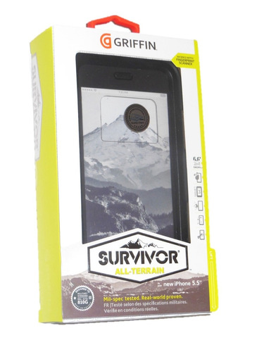 estuche carcasa antigolpes survivor iphone 6s plus - 3 capas