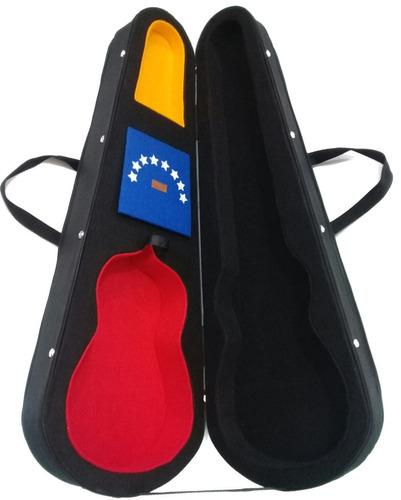 estuche case rígido duro para cuatro venezolano tricolor m1
