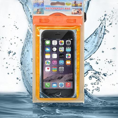 estuche celular agua x 2 unidades sumergible pantalla 5.7