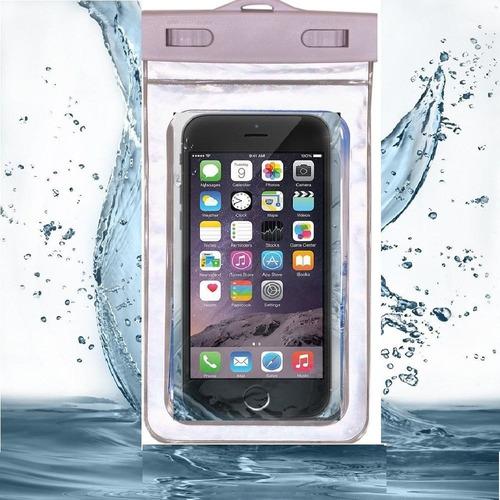 estuche celular agua x 2 unidades y sumergible pantalla 5.7