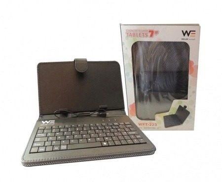 estuche con teclado weller para tablet de 7