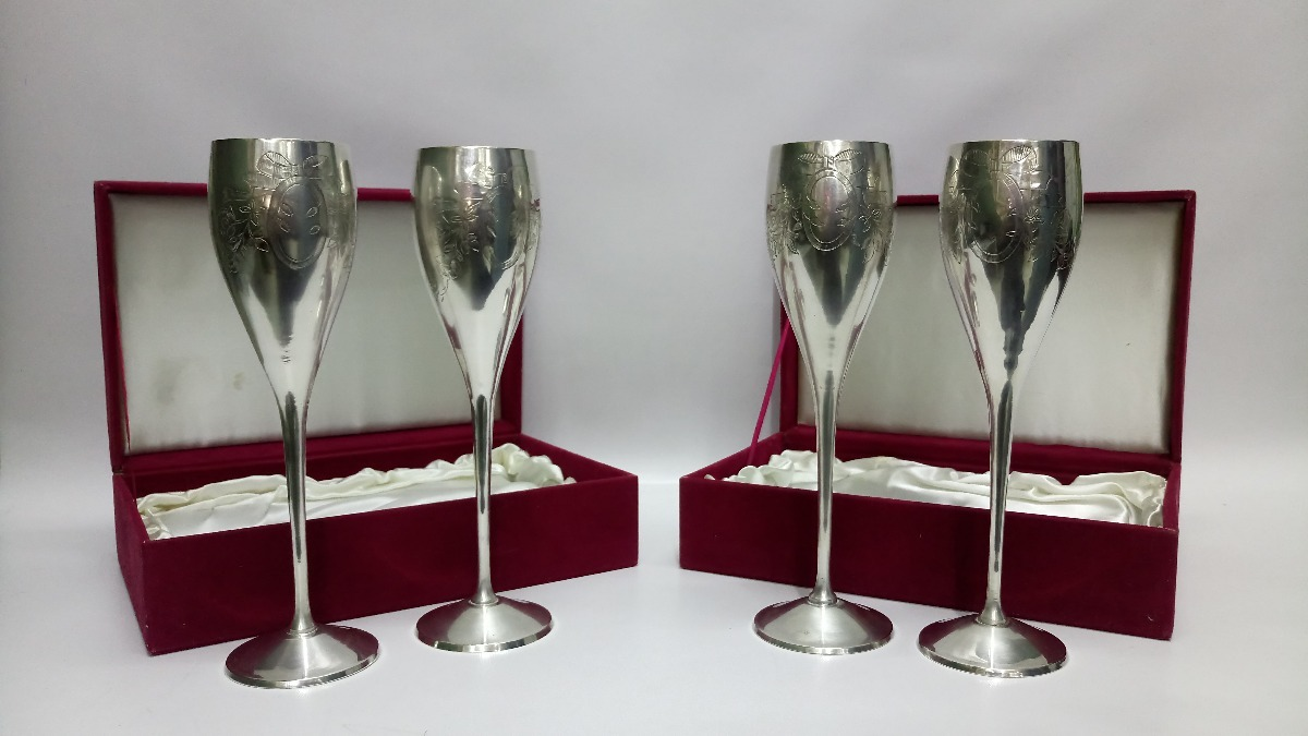 estuche copas hindu antiguo bronce ba o plata precio x c u