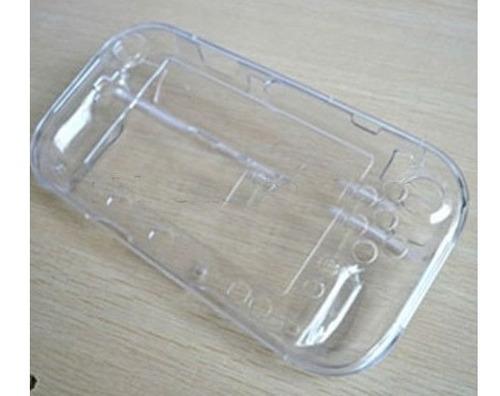 estuche cristal case wii u game pad transaparente y negro