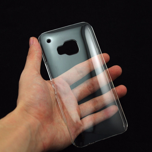 estuche crystal clear transparente para htc m9 & plus