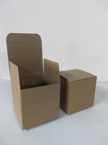 estuche cubo 10x10x10 cm kraft pack x 50 unidades