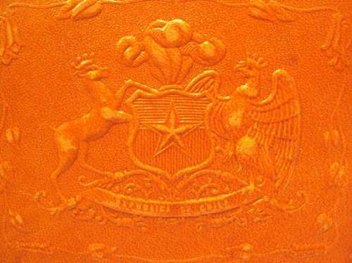 estuche cuero escolar escudo nacional