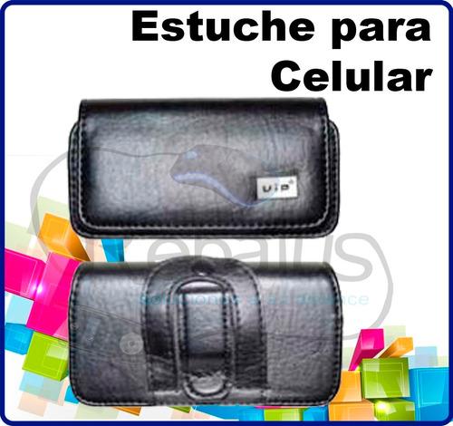 Estuche De Cuero Celular Lg iPhone Nokia Samsung Sony