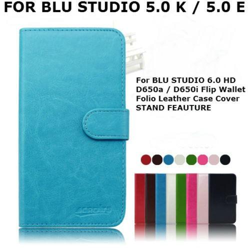 estuche de cuero para blu studio 5.0 k d530k / 5.0 e d530e
