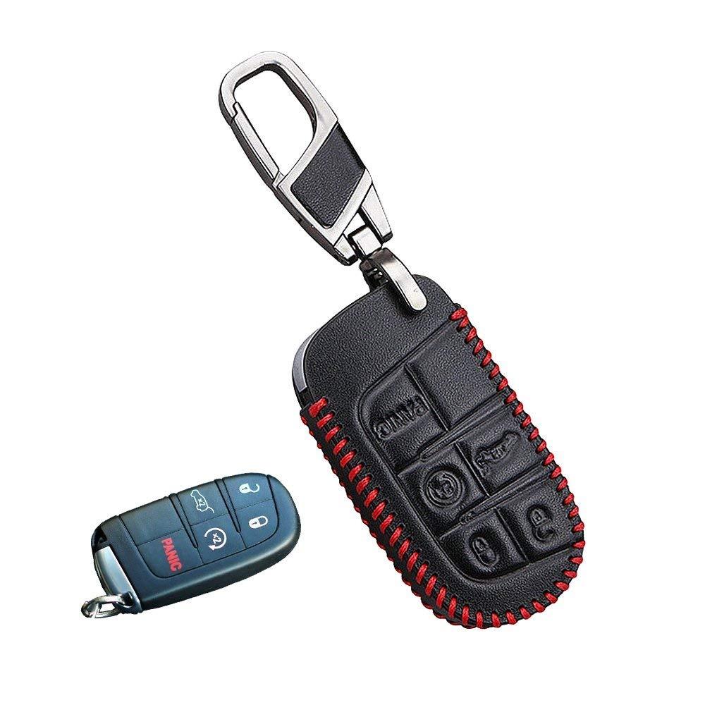 Aut/éntica Premium piel llavero dise/ño de Mercedes Benz