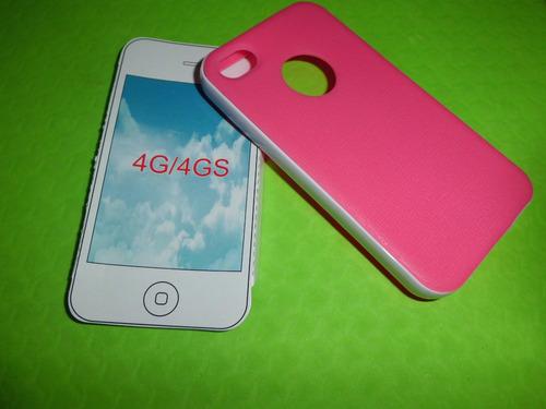 estuche de goma para iphone4 4g