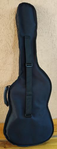 estuche de guitarra lona lux  reforzada 1 cm esponja y otras