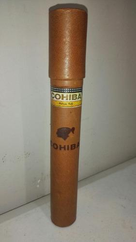 estuche de habano cohiba puro en cuero nuevo cod6318 asch