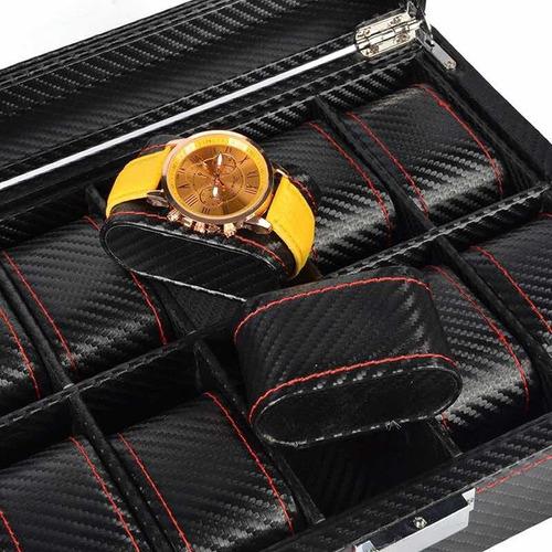 estuche de lujo caja organizadora para 10 relojes premium