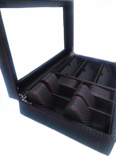 estuche de lujo caja organizadora para 6 relojes 3 gafas
