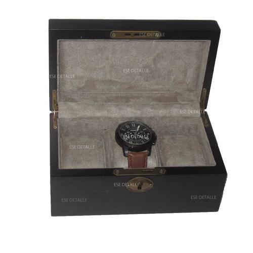 estuche de madera para guardar 3 relojes