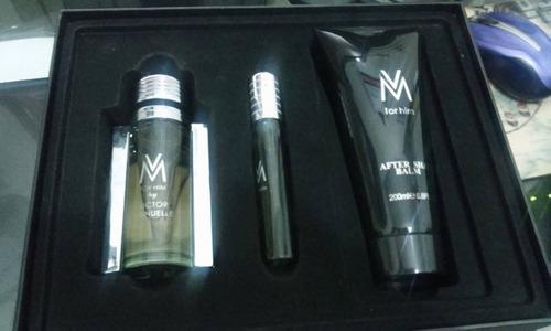 estuche de perfume victor manuel 3 piezas