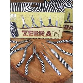 Estuche De Pinzas Para Bisuteria Zebra Y Camuflaje Beadsmith