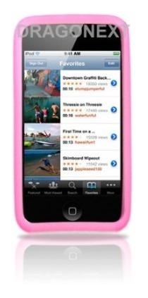 estuche de silicon para ipod touch de 4ta generacion