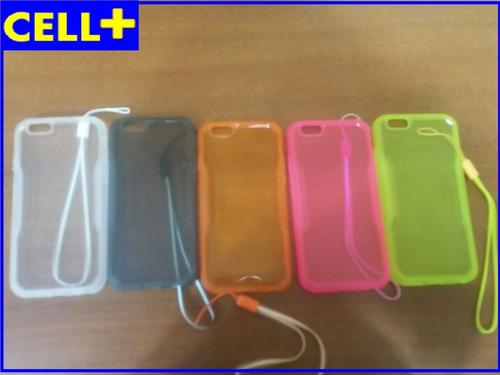 estuche de silicona iphone 6 6s varios colores