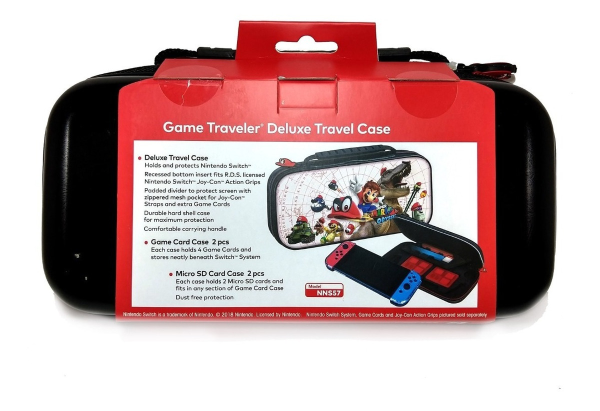 Estuche De Viaje Super Mario Odyssey Case Nintendo Switch