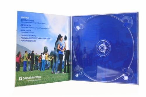 estuche digitray dvd cristal  acrílica transp. x 50 unidades