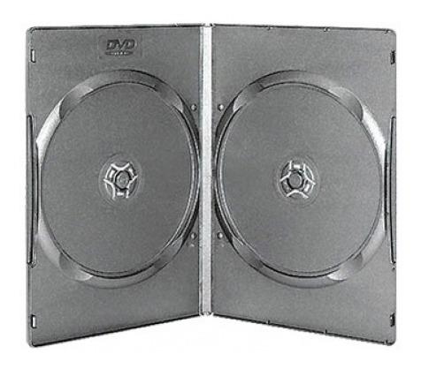 estuche dvd 9mm doble x 150 unidades rectangular