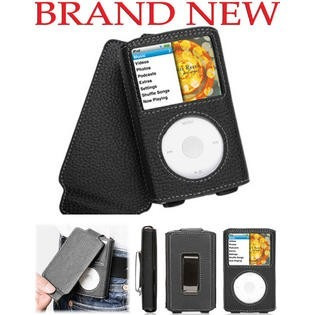 estuche en cuero griffin ipod classic 80, 120, 160 gb.