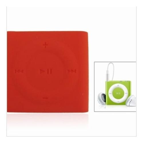 estuche en goma protectora  ipod shuffle 4g y 5g