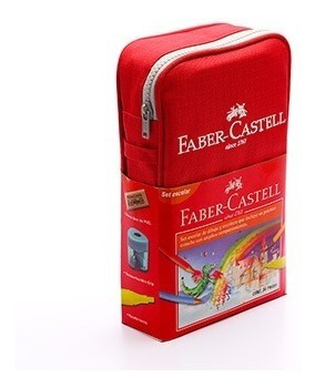 estuche escolar faber castell 34 piezas colores, dibujo