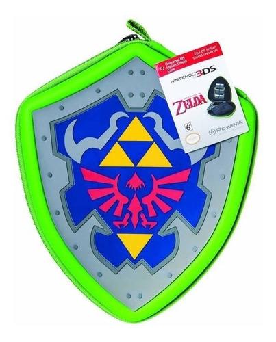 estuche escudo zelda nintendo 3ds / 2ds nuevo