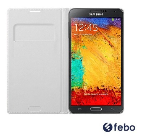 estuche flip cover original samsung galaxy note 3 febo