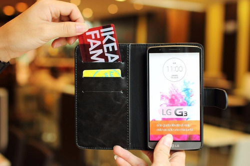 estuche flip cover tipo cartera - lg g3 android