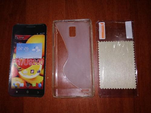estuche forro acrigel  huawei p1 + lamina pantalla