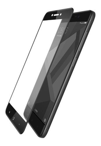 estuche forro antigolpe bumper xiaomi redmi 4x + vidrio 3d