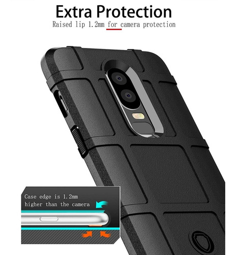 estuche forro one plus 6 antichoque armadura escudo rugged