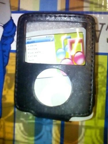 estuche forro piel para ipod nano nuevo (detalles de acabado