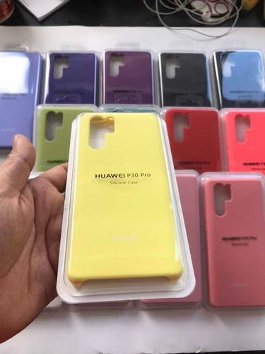 estuche forro silicone case huawei p 30 pro