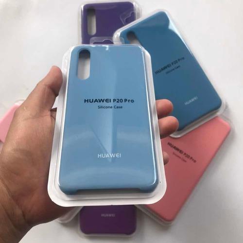 estuche forro  silicone case huawei p20 pro