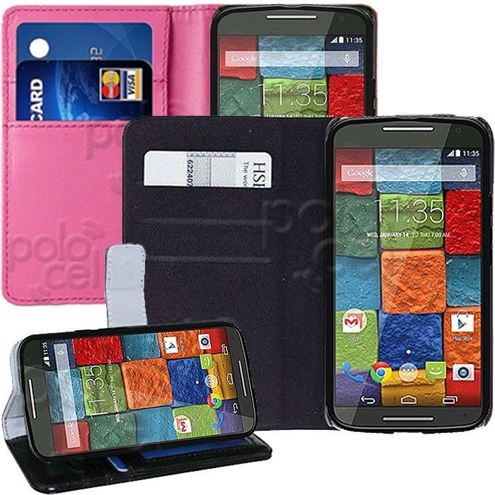 Estuche Funda Motorola Xt1097 Moto X+1 X2 Tarj. + Templado