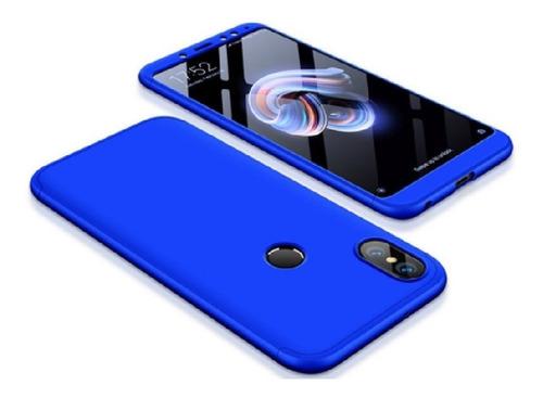 estuche funda protector 360 xiaomi redmi note 5 / 5 pro azul