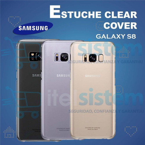 estuche galaxy s8 clear cover funda case original itelsistem